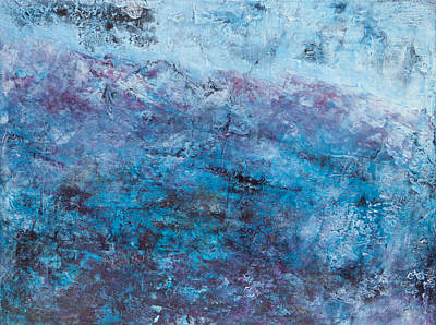 Mixed Media - Night Snow In The High Andes by Carla Woody