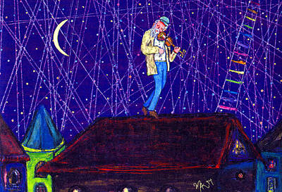 Painting - Night Song  by Michael A Klein