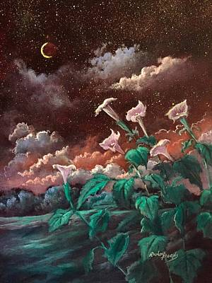 Painting - Night Song by Randy Burns