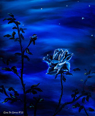 Painting - Night Stars by Gina De Gorna