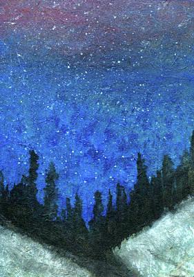 Painting - Night Stars by R Kyllo