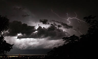 Photograph - Night Storm 1 by Odille Esmonde-Morgan