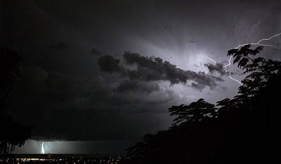 Photograph - Night Storm 2 by Odille Esmonde-Morgan