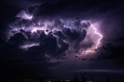 Photograph - Night Storm by MaryAnn Janzen