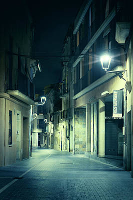 Night Street Art Print