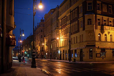 Photograph - Night Streets Of Prague by Jenny Rainbow