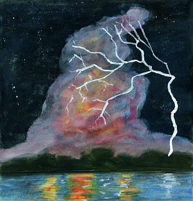 Painting - Night Strike by R Kyllo