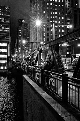 Photograph - Night Stroll In Chicago by Linda Unger