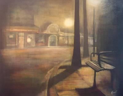 Night Stroll Art Print by Victoria Heryet