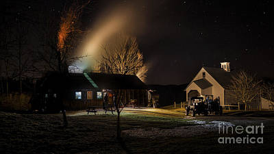 Photograph - Night Sugar Run by Scenic Vermont Photography