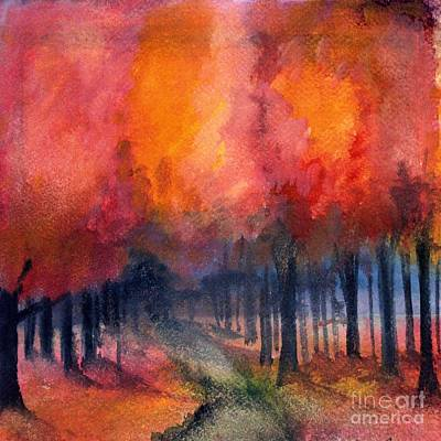 Night Time Among The Maples Art Print by Laurie Rohner
