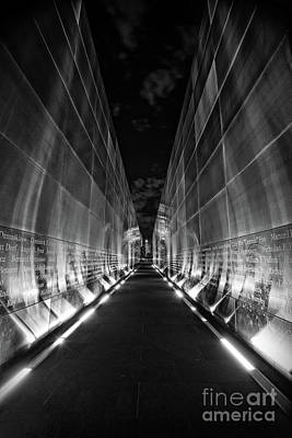 Photograph - Night Time At Empty Sky Memorial by Nicki McManus