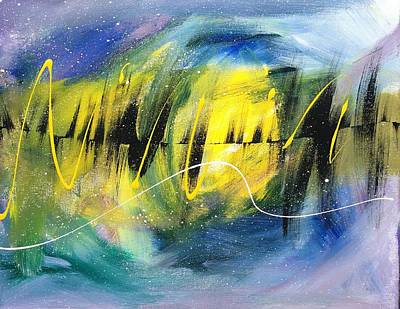 Blue Painting - Night Time Dance In Blue by Allison's Gallery