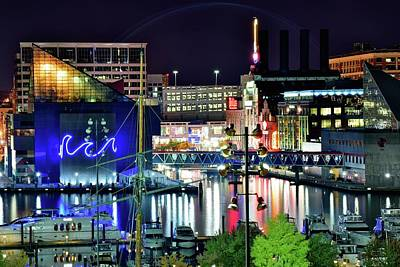 Photograph - Night Time In Baltimore by Frozen in Time Fine Art Photography