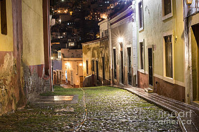 Photograph - Night Time In Guanajuato Mexico by Juli Scalzi