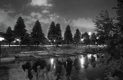 Photograph - Night Time In The Park by Bill Lere