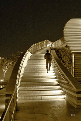 Photograph - Night Time Stairway by Ben and Raisa Gertsberg