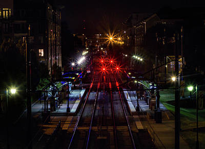 Night Tracks Art Print