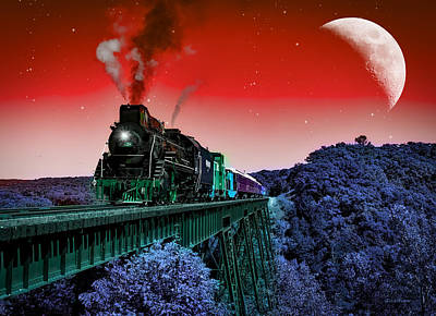 Photograph - Night Train by Ericamaxine Price