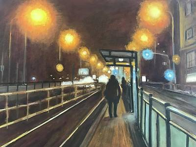 Painting - Night Train  by Gloria Smith