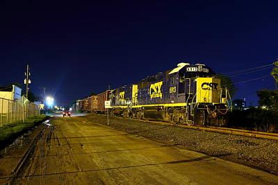 Photograph - Night Train by Joseph C Hinson Photography