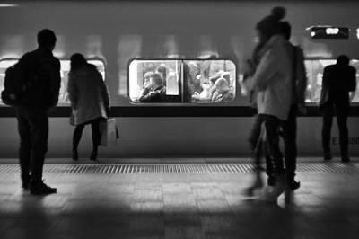 Photograph - Night Train by Lee Webb