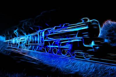 Mixed Media - Night Train To Romance by Aaron Berg