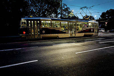 Photograph - Street Tram by M G Whittingham