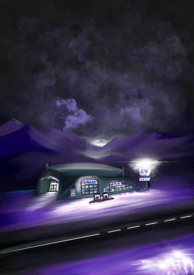 Digital Art - Night Travel by Dick Bourgault