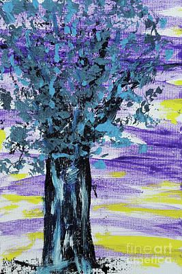 Painting - Night Tree With Jazz by Alys Caviness-Gober