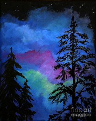 Ballerina Art - Night Trees 4 by Carol Kovalchuk
