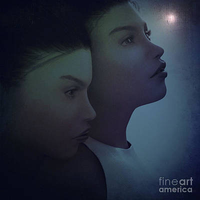 Mixed Media - Night Twins by Barbara Milton