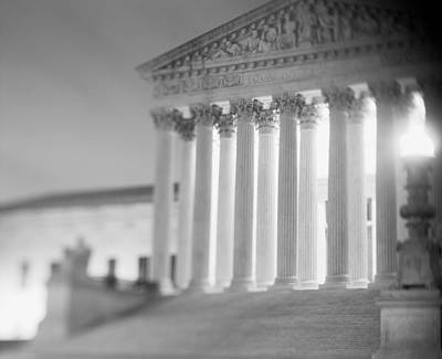Night Us Supreme Court Washington Dc Art Print
