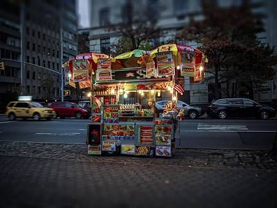 Photograph - Night Vendor by Wayne Gill