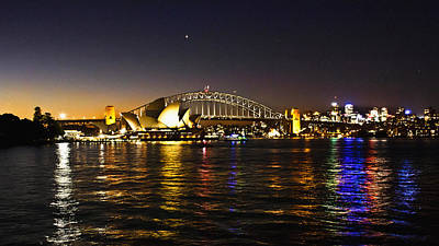 Photograph - Night View From Opera On The Harbour by Miroslava Jurcik