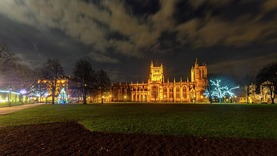 Photograph - Night View Of Bristol Cathedral At Christmas by Jacek Wojnarowski