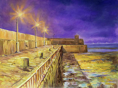 Painting - Night View Of Gyles' Quay by Marty Garland