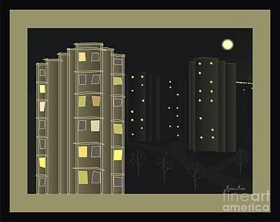 Night View - When I Smoke Art Print