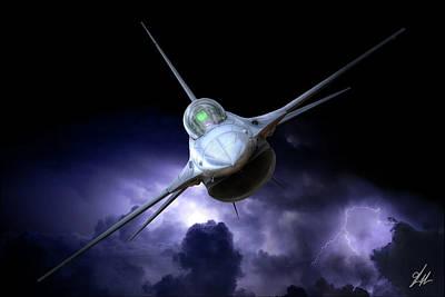 Storm Digital Art - Night Viper by Brandon Griffin