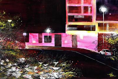 Painting - Night Walk by Anil Nene
