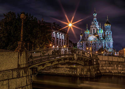 Photograph - Night Walk At Sankt Petersburg by Jaroslaw Blaminsky
