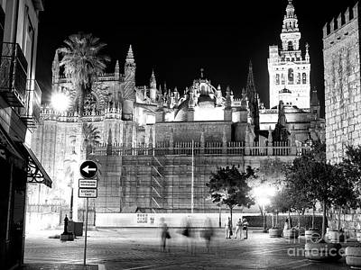 Photograph - Night Walk In Seville by John Rizzuto