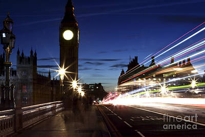 Photograph - Night Walk In Westminster by John Rizzuto