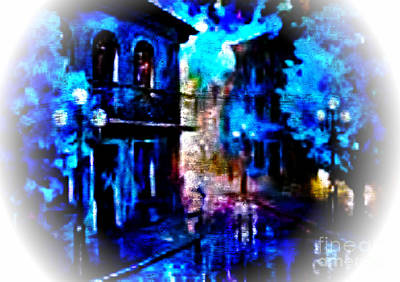 Digital Art - Night Walking In New Orleans by Rod Jellison