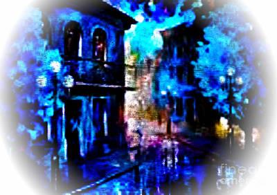 Digital Art - Night Walking In New Orleans by Rod Jellison