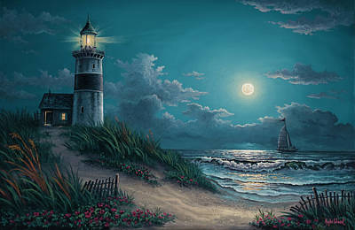 Moonlight Wall Art - Painting - Night Watch by Kyle Wood