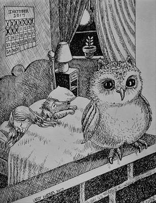 Drawing - Night Watch by Larry Whitler