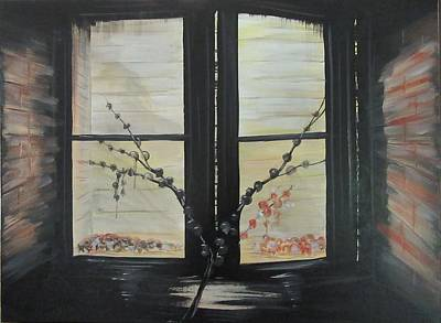 Painting - Night Window by J Edward Neill