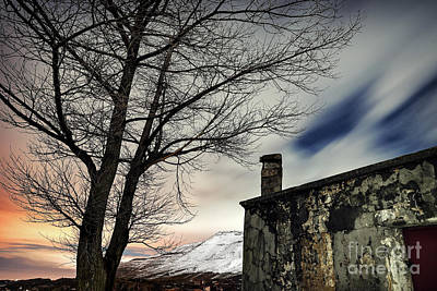 Photograph - Night Winter Landscape by Anna Om
