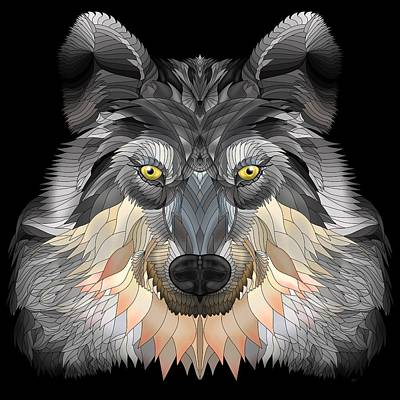 Digital Art - Night Wolf by Mark Taylor